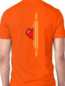 Heart through orange portal (version 2) Unisex T-Shirt