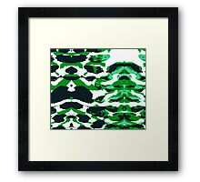 Abstract Army Pattern in Framed Print
