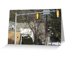 EMERGENCY TRAFFIC LIGHTS FOR TRAIN SIGNALS Greeting Card