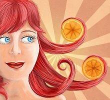 A Girl with oranges by Dominika Aniola