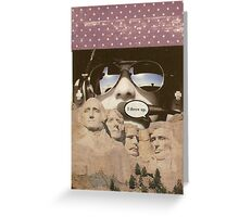 God, guns and glory Greeting Card
