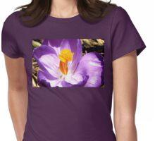 Purple crocus macro Womens Fitted T-Shirt
