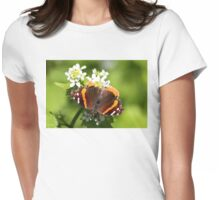 Red Admiral Butterfly Womens Fitted T-Shirt