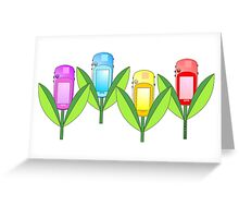 GPS Flowers  Greeting Card