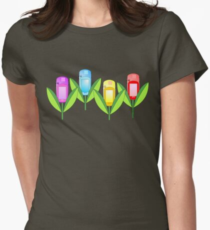 GPS Flowers  Womens Fitted T-Shirt