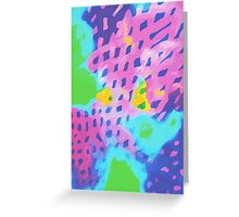 Purple Abstract Watercolor Painting Greeting Card