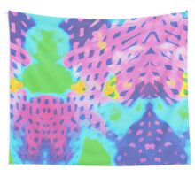 Purple Abstract Watercolor Painting Wall Tapestry