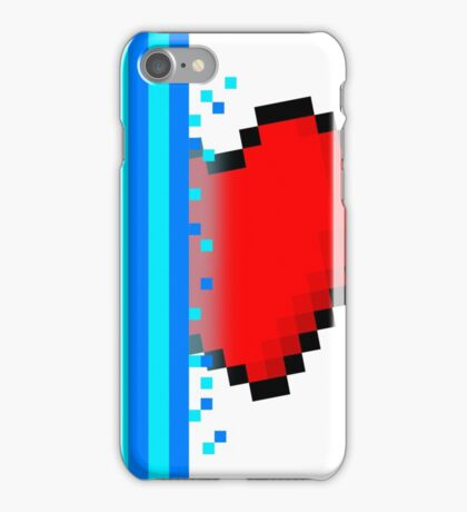 Heart through blue portal (version 2) iPhone Case/Skin