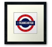 #TeamCarter Framed Print