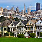 Iconic San Francisco with Painted Ladies by Bob Moore