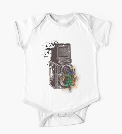 Photography Vintage Retro Rolleiflex One Piece - Short Sleeve