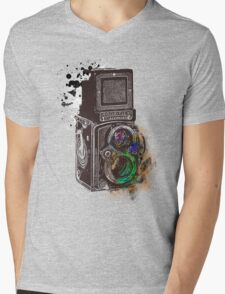 Photography Vintage Retro Rolleiflex Mens V-Neck T-Shirt