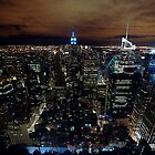 New York at Night by bertadp