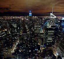 New York at Night by bertadp