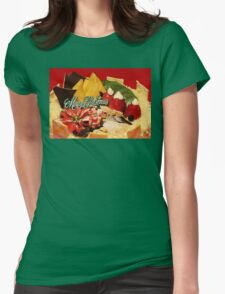Scrumptious Christmas Cake Womens Fitted T-Shirt