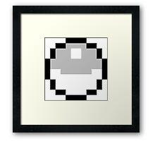 8-Bit Pokeball Framed Print