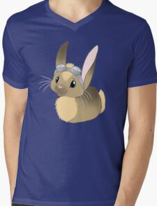 Goggle Bunny Mens V-Neck T-Shirt