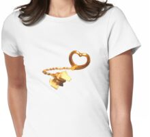 Puppy on a Neckleash Womens Fitted T-Shirt