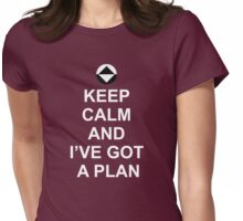 Keep Calm and I've got a plan [Dot] Womens Fitted T-Shirt