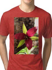 Red Trillium Tri-blend T-Shirt