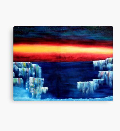 Frozen waterfalls 3 Canvas Print