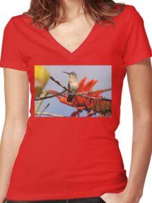 Buffy Hummingbird 1 Women's Fitted V-Neck T-Shirt