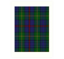 00017 The House of Bailey Clan Tartan  Art Print