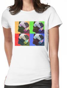 Pug Warhol Womens Fitted T-Shirt
