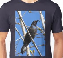 Common grackle (Quiscalus quiscula) Unisex T-Shirt