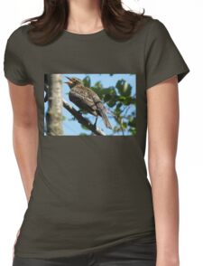 Female red-winged blackbird Womens Fitted T-Shirt