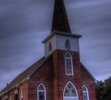 Our Saviour's Lutheran Church of Norse, Texas by Terence Russell
