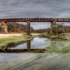 The Long One-Lane Bridge Over the Nolan River (Blum, Texas) by Terence Russell