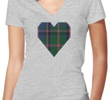 00018 Cooper/Couper Clan/Family Tartan Women's Fitted V-Neck T-Shirt