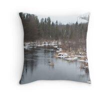 AuSable River Grayling MI Throw Pillow