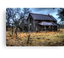 A Long Neglected Dwelling in Coleman County, Texas Canvas Print