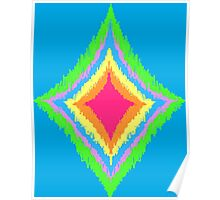 Colorful Ikat Pattern Poster