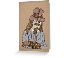Steampunk Man with Awesome Hat Greeting Card