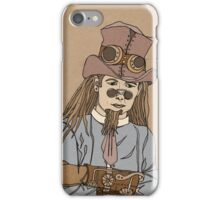 Steampunk Man with Awesome Hat iPhone Case/Skin