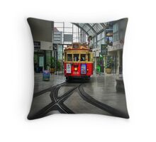 Tramcar Shopping Throw Pillow