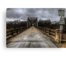 The Old Bridge of Burkett, Texas  Canvas Print