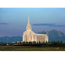 Oquirrh Mountain Temple Morning Light 20x30 Photographic Print