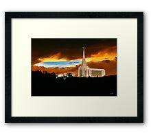Oquirrh Mountain Temple Dark Sunset 20x30 Framed Print