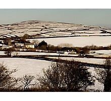 Christmas Eve Snow Scene One Photographic Print