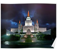 Oakland Temple Blue Sunset 20x24 Poster
