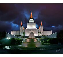 Oakland Temple Blue Sunset 20x24 Photographic Print
