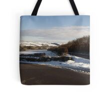 Christmas Eve Snow Scene Three Tote Bag
