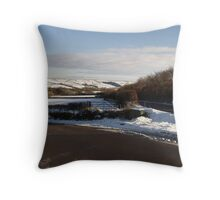 Christmas Eve Snow Scene Three Throw Pillow