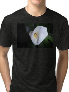 Pure White Calla Lily Tri-blend T-Shirt