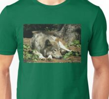 Timber Wolf Chilling Out Unisex T-Shirt