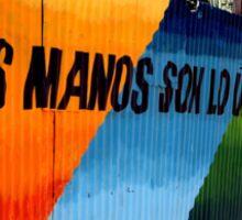 valparaiso coloured fence Sticker